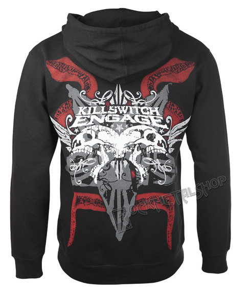bluza KILLSWITCH ENGAGE - SKULL, rozpinana z kapturem