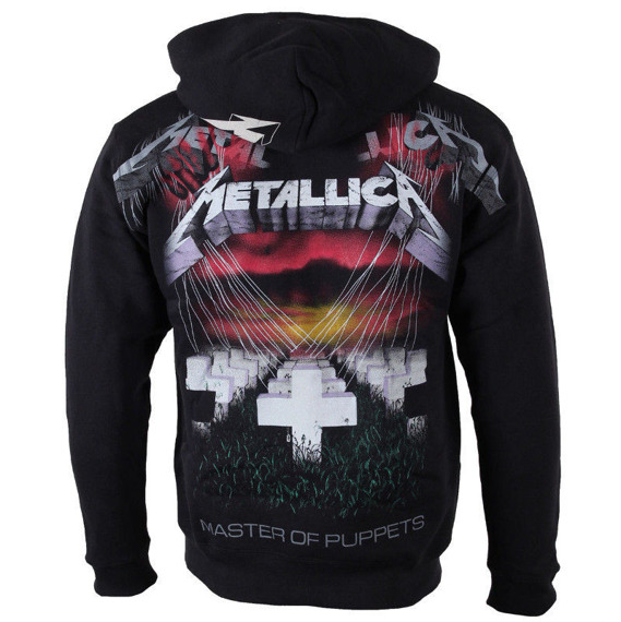bluza METALLICA - MASTER OF PUPPETS FADED, rozpinana z kapturem