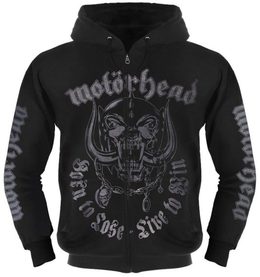 bluza MOTORHEAD - BORN TO LOSE LIVE TO WIN, rozpinana z kapturem
