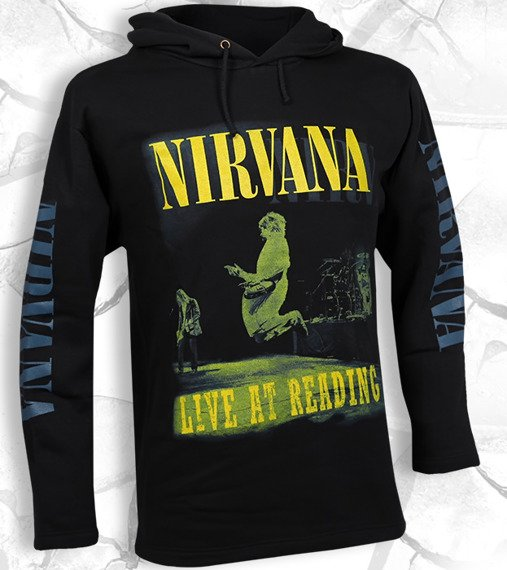 bluza NIRVANA - LIVE AT READING czarna, z kapturem