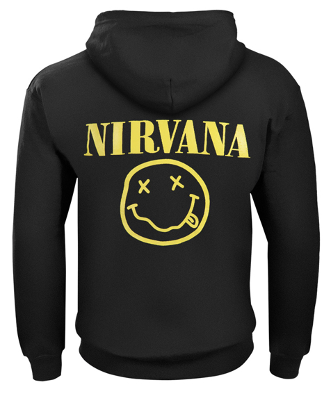 bluza NIRVANA - SMILEY rozpinana, z kapturem