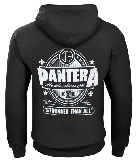 bluza PANTERA - STRONGER THAN ALL rozpinana, z kapturem