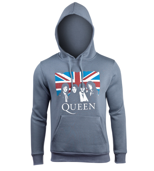 bluza QUEEN - UNION JACK, kangurka z kapturem