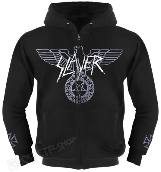 bluza SLAYER - EAGLE rozpinana, z kapturem
