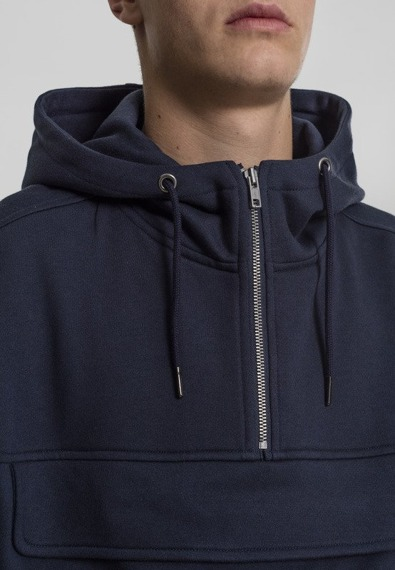 bluza SWEAT PULL OVER HOODY navy, kangurka z kapturem