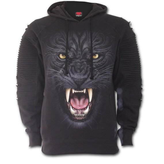 bluza TRIBAL PANTHER, kangurka z kapturem