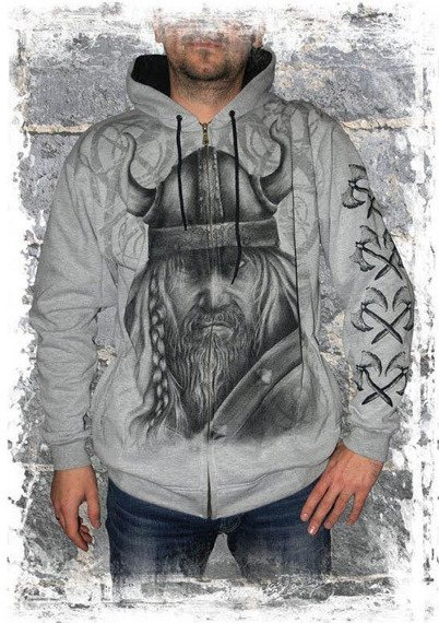 bluza VIKING - WARRIOR,rozpinana z kapturem