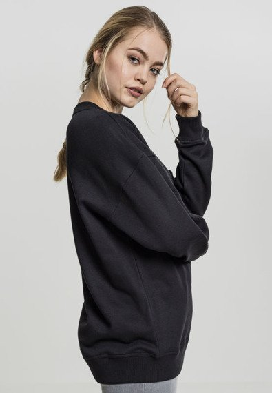 bluza damska LADIES OVERSIZED CREWNECK black