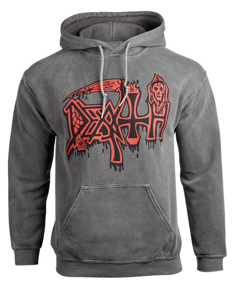 bluza kangurka DEATH - SCREAM BLOODY GORE - VINTAGE WASH z kapturem