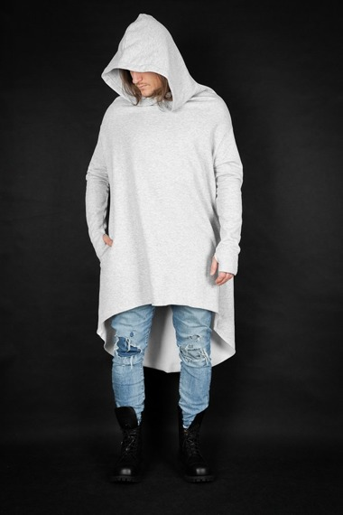 bluza unisex AMENOMEN MYSTICAL HOODIE GRAY, z kapturem