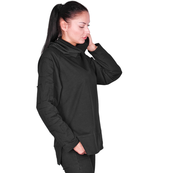 bluza unisex AMENOMEN - UNIQUE BLACK, z kapturem