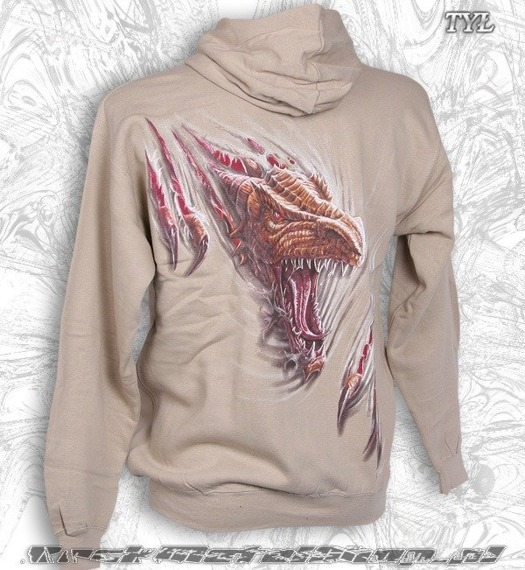 bluza z kapturem DRAGON RIP