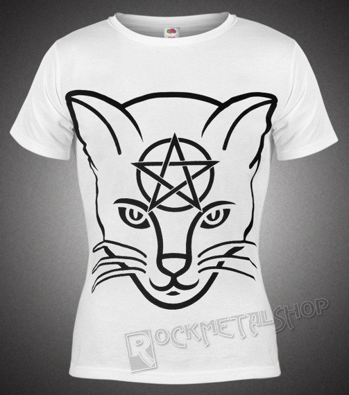 bluzka damska AMENOMEN - HEAD CAT (OMEN029DA WHITE)
