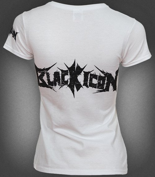bluzka damska BLACK ICON - LOGO (DICON038 WHITE)