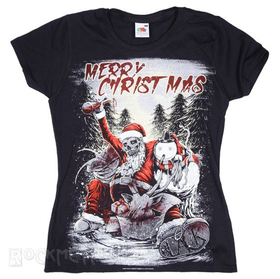 bluzka damska BLACK ICON - MERRY CHRISTMAS (DICON042 BLACK)