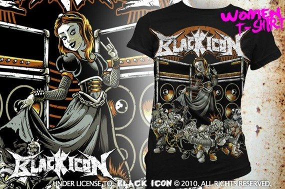 bluzka damska BLACK ICON - SNOW WHITE (DICON110 BLACK)