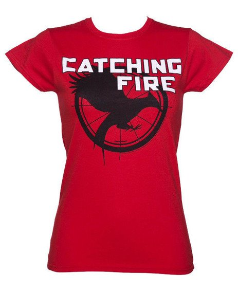 bluzka damska HUNGER GAMES - CATCHING FIRE - LOGO