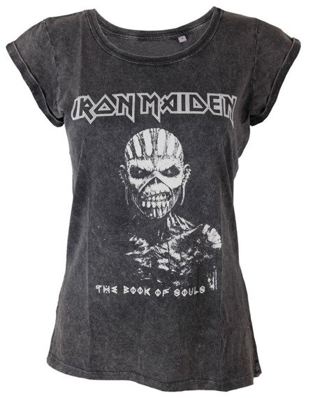 bluzka damska IRON MAIDEN - BOOK OF SOULS ACID WASH