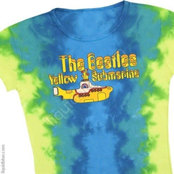 bluzka damska THE BEATLES - YELLOW SUBMARINE LOGO barwiona