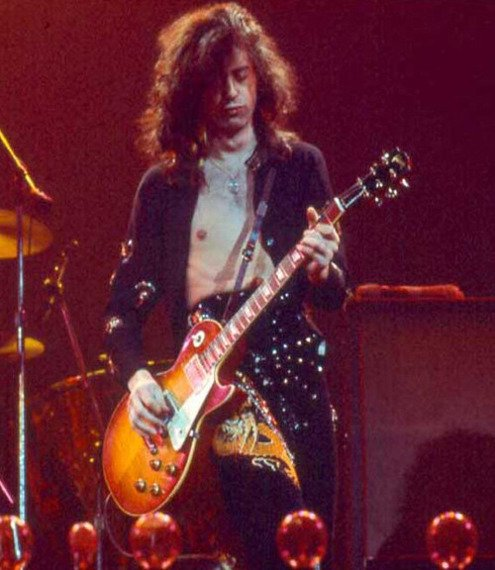 brelok / miniaturka gitary LED ZEPPELIN - JIMMY PAGE: LES PAUL CUSTOM