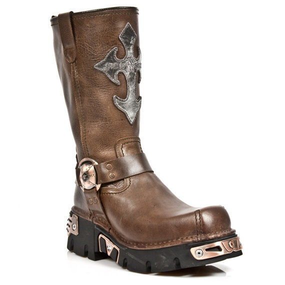 buty NEW ROCK M.1610-C2 NOMADA MARRON BOX PLANE REACTOR NEGRO TOB COBRE