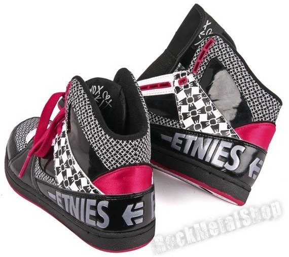 buty damskie ETNIES - OLLIE KING (BLACK/RED/WHITE)