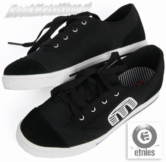 buty damskie ETNIES - PLIMSY (BLACK/WHITE/RED) 09'