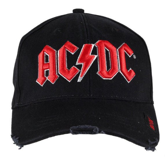 czapka AC/DC - RED ON WHITE LOGO