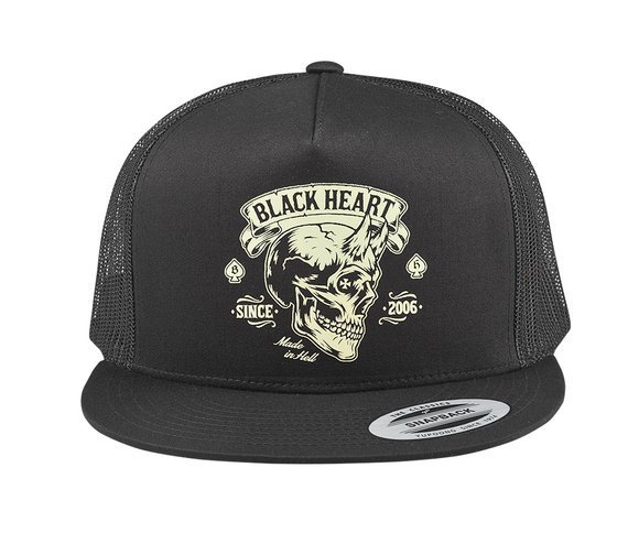 czapka BLACK HEART - DEVIL SKULL