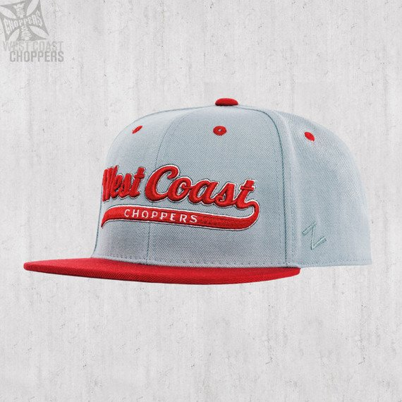 czapka WEST COAST CHOPPERS - BALL HAT GREY-RED