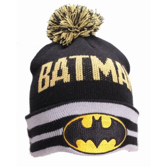 czapka zimowa BATMAN - TASSEL AND STRIP