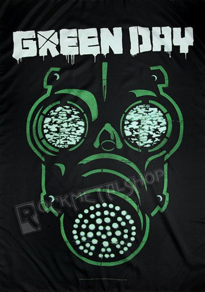flaga GREEN DAY - GAS MASK
