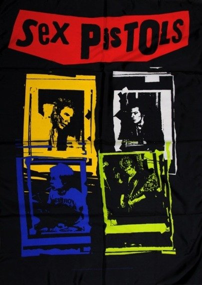 flaga SEX PISTOLS - BAND FRAMES