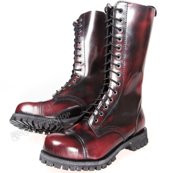 glany ALTERCORE bordo przecierane 14-dziurkowe (552 BORDO/MAROON/BURGUNDY RUB-OFF)