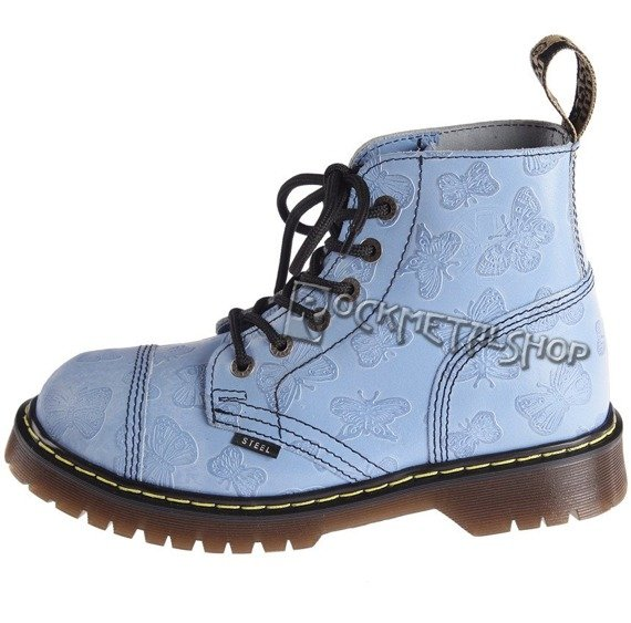 glany STEEL - L. BLUE BUTTERFLYS (6 dziurek) 127/ALICE/D34