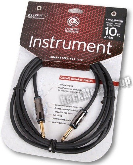 kabel gitarowy 3,05m PLANET WAVES CIRCUIT BREAKER jack prosty/prosty (PW-AG-10)