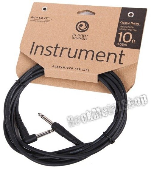 kabel gitarowy 3,05m PLANET WAVES CLASSIC jack prosty/kąt (PW-CGTRA-10)