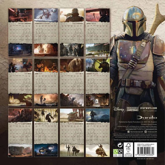 kalendarz STAR WARS THE MANDALORIAN 2021