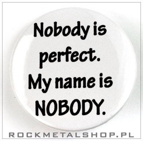 kapsel NOBODY IS PERFECT średni
