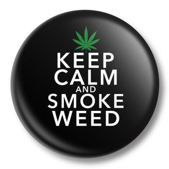 kapsel średni KEEP CALM AND SMOKE WEED Ø38mm