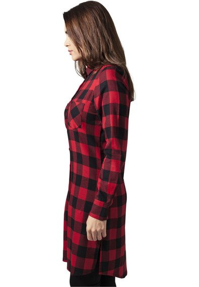 koszula CHECKED FLANELL SHIRT DRESS blk/red