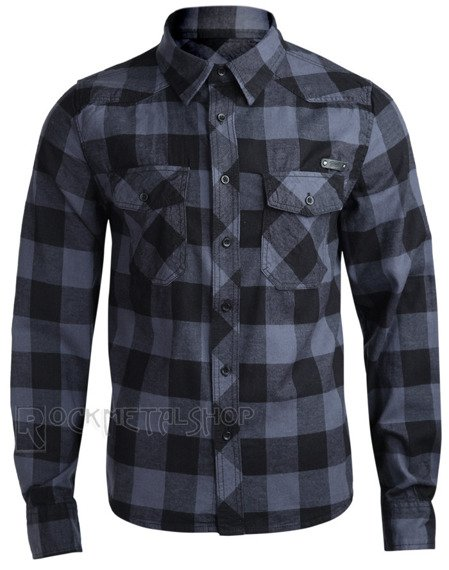 koszula CHECKSHIRT - BLACK GREY