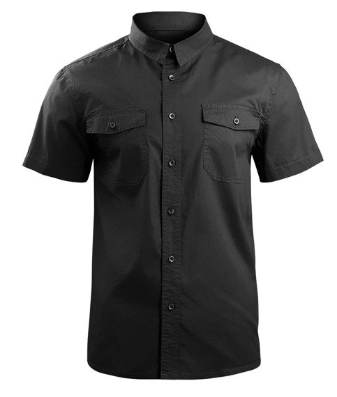 koszula ROADSTAR SHIRT, 1/2 SLEEVE - BLACK