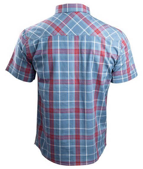 koszula ROADSTAR SHIRT, 1/2 SLEEVE - RED/BLUE