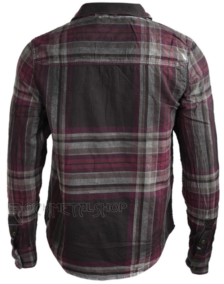 koszula WIRESHIRT RAVEN - CHOCO/RED