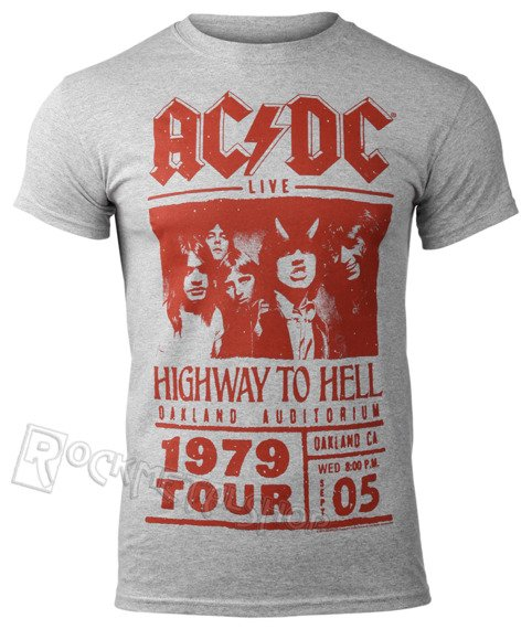 koszulka AC/DC - HIGHWAY TO HELL RED PHOTO 1979 TOUR