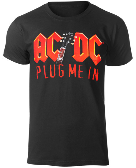 koszulka AC/DC - PLUG ME IN WITH ANGUS