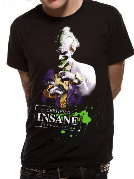 koszulka BATMAN ARKHAM CITY - JOKER INSANE
