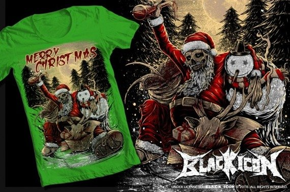 koszulka BLACK ICON - MERRY CHRISTMAS (MICON042) green