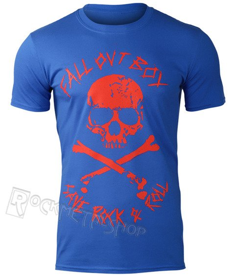 koszulka FALL OUT BOY - SKULL AND CROSSBONES (BLUE)